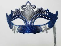 Blue and Silver Rialto Mask